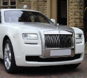 Rolls Royce Ghost - White Hire in Newport